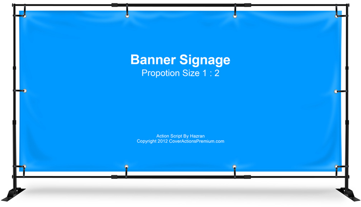 Banner Sign Stand Mockup 1 2 Cover Actions Premium