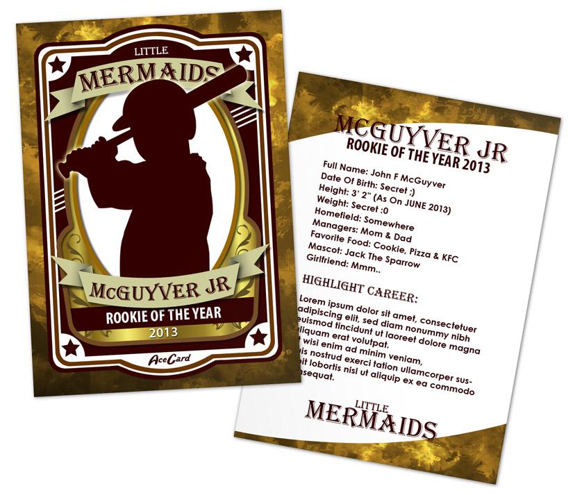 Baseball Card Mock Ups   Cover Actions Premium   Mockup PSD Template