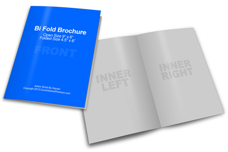 bi fold brochure size