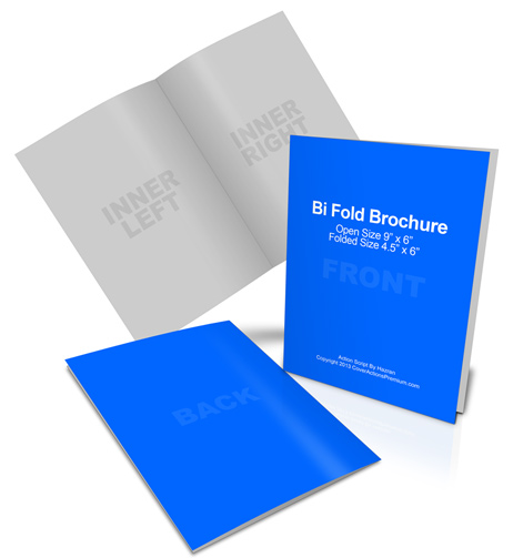 6 x 9 Bi-Fold Brochure Cover Actions