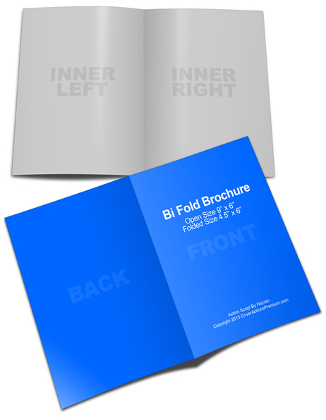 6 x 9 Bi-Fold Brochure Cover Actions