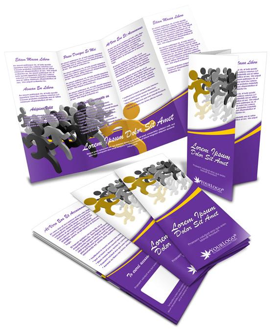 11x17 Double Parallel Brochure Mockup
