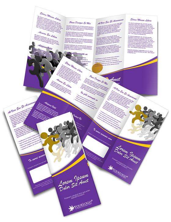 Quadri Fold Double Parallel Brochure Cover Actions