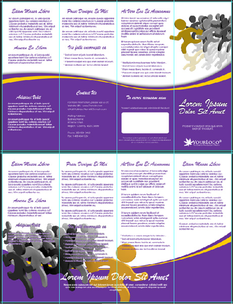 Double Parallel Fold Brochure Mockup Cover Actions Premium - Double parallel fold brochure template