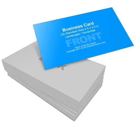 Business Card Mockup 3 5 x 2