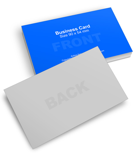 International Standard Size Business Card Action Script ...