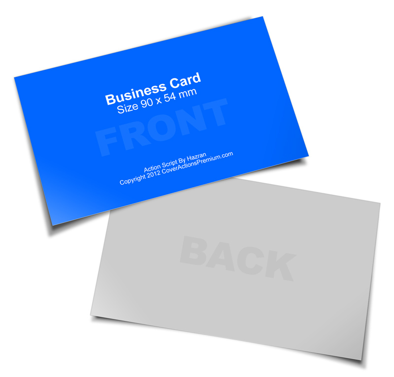 International Standard Size Business Card Action Script