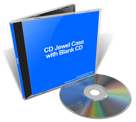 cd jewel case with blank cd mockup set cover actions premium