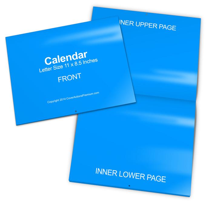 saddle stitched calendar mockup cover actions premium. Black Bedroom Furniture Sets. Home Design Ideas