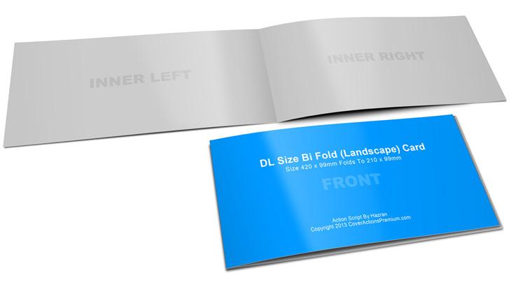 half fold landscape dl card mockup