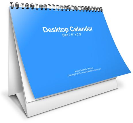 Double wire-o / Wiro /Spiro bound Desktop Calendar Cover Actions