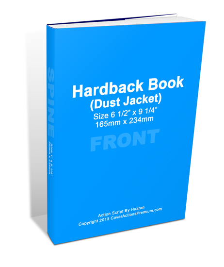 Book Dust Cover Template : Dust jacket book mock up cover actions premium