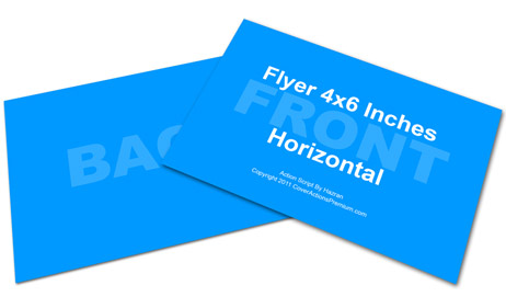 horizontal 4 x 6 postcard flyer cover action set cover actions
