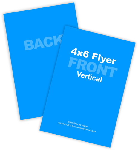 4x6 Vertical Flyer Mockup Action | Cover Actions Premium | Mockup ...