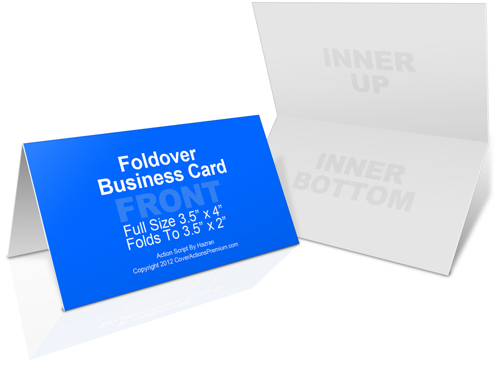 Foldover business card mockup cover actions premium mockup psd fold over business card action script landscape click here to reheart Image collections
