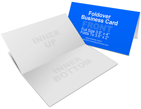 Foldover business card mockup cover actions premium mockup psd fold over business card mock up landscape reheart Gallery