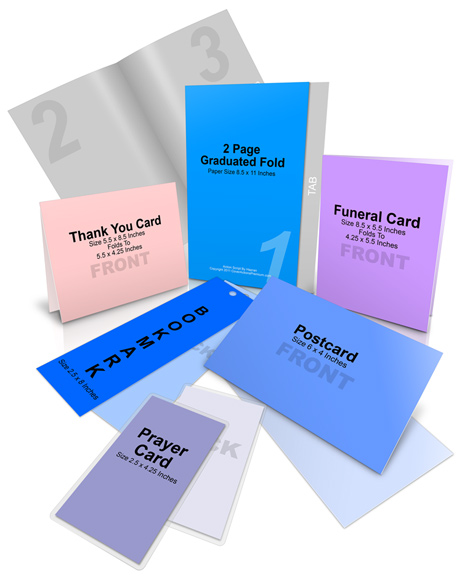 Funeral Program Package Mock Up