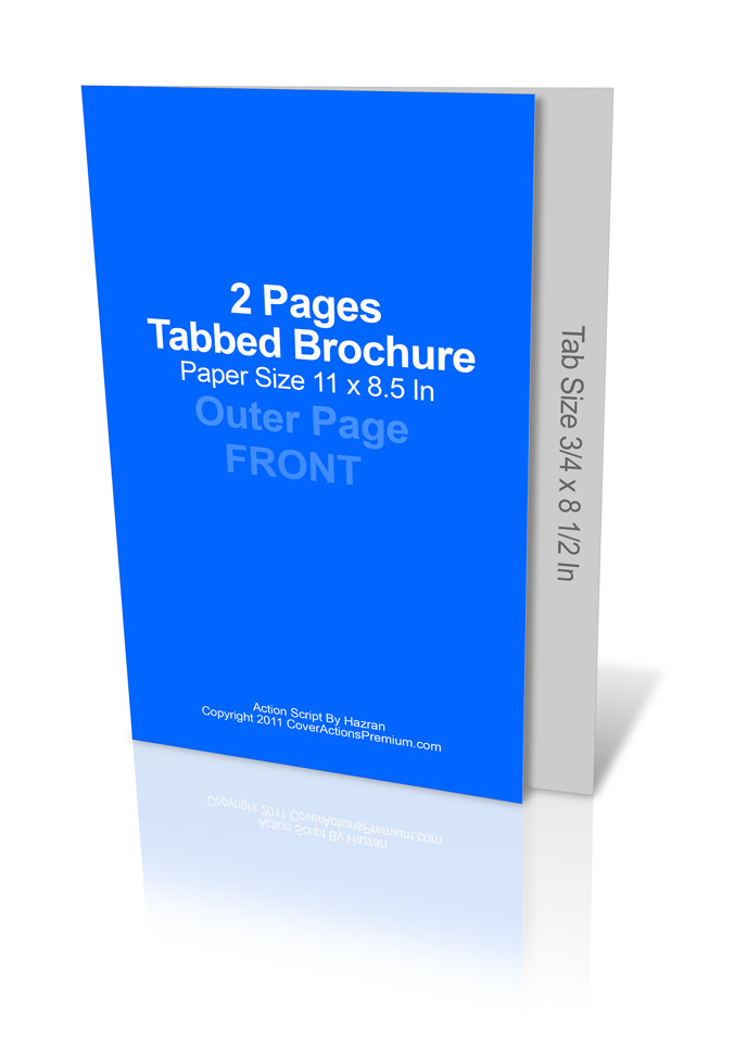 single tabbed brochure mockup cover action set cover actions