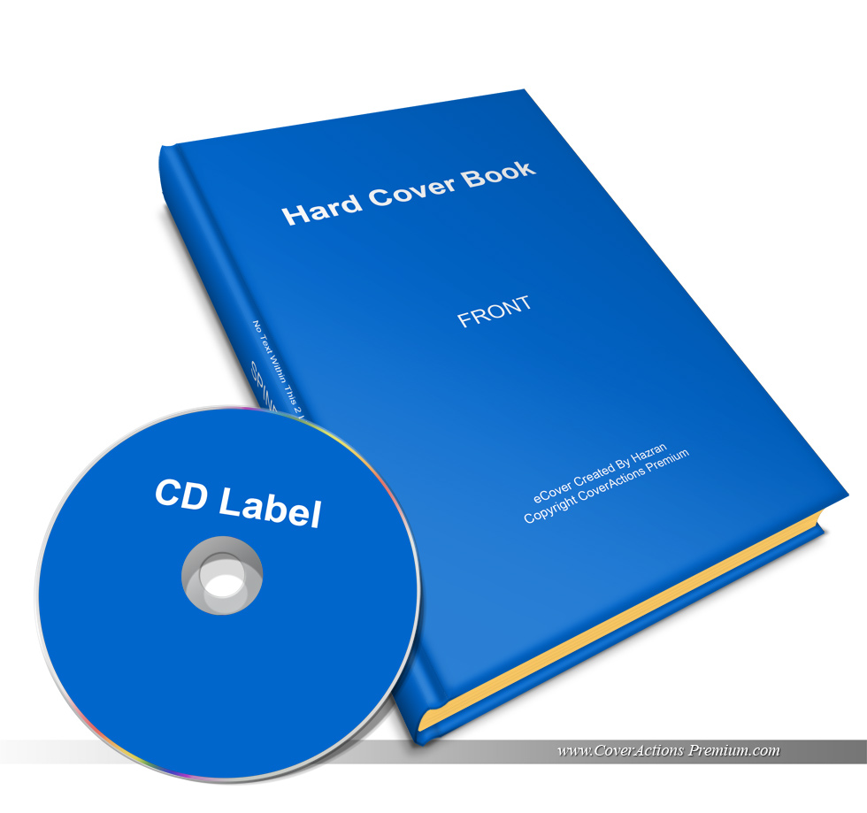 Hardback Book Cover Template : Hardcover book with cd mockup cover actions premium