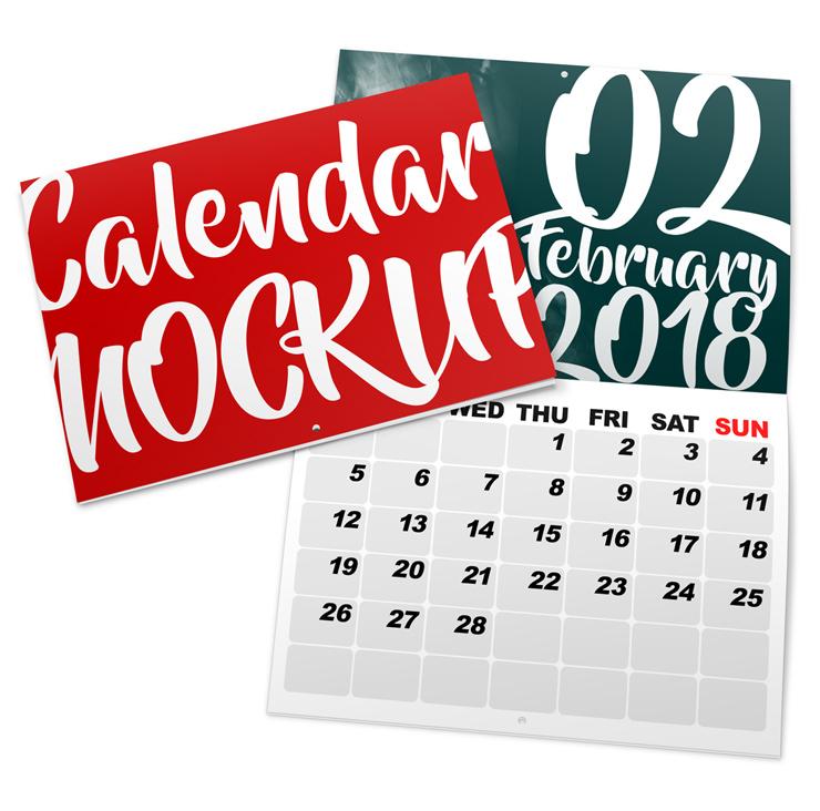 A5 Landscape Calendar Mockup Cover Actions Premium Mockup Psd