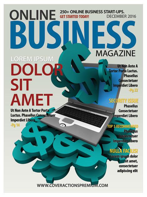 Magazine Cover Template -8 x 10.875