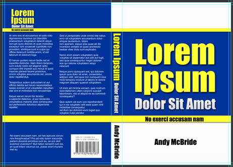 Book Cover Template 6x9
