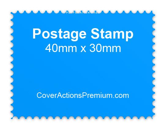 postage stamp mockup horizontal cover actions premium mockup