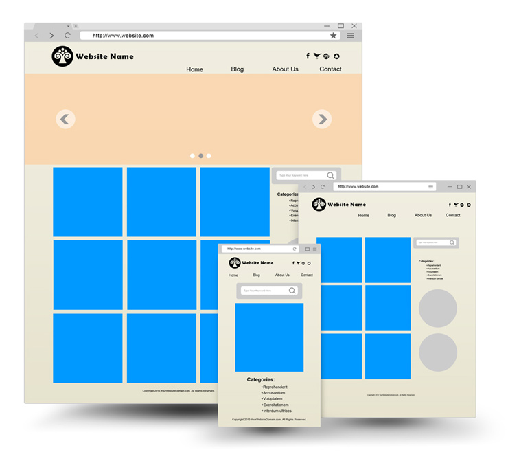 responsive web browser mockup | cover actions premium | mockup psd, Powerpoint templates
