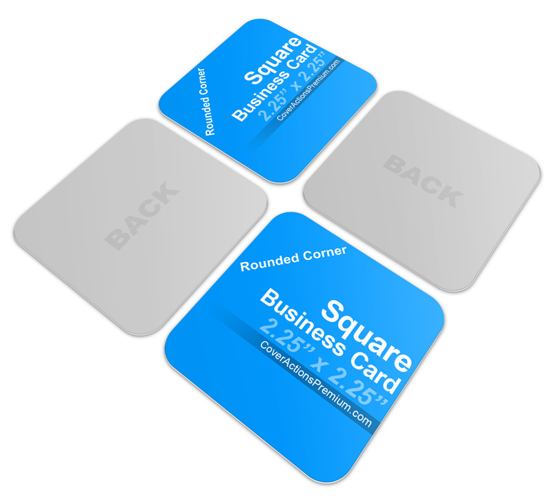 Rounded Corners Square Business Card