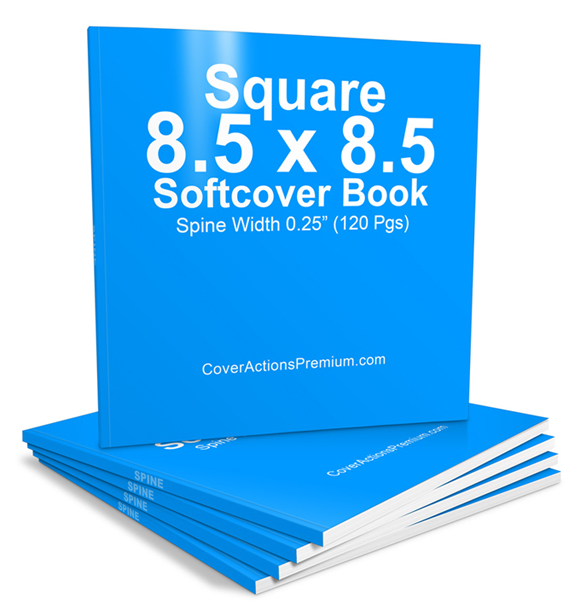 Soft Cover Book Mockup Template : Pages square softcover book mockup cover