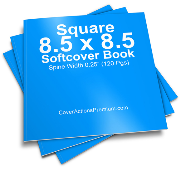 Children S Book Cover Mockup : Pages square softcover book mockup cover