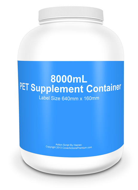 8000mL Large Supplement Bottle Mockups