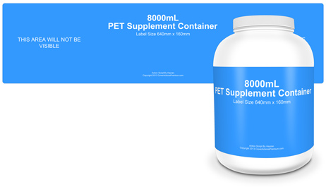 HDPE 8000mL Vitamin Bottle Action Script