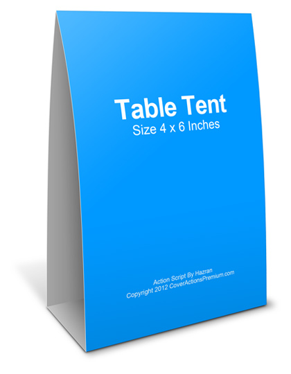 4 x 6 inches table tent card action mockup actions cover actions