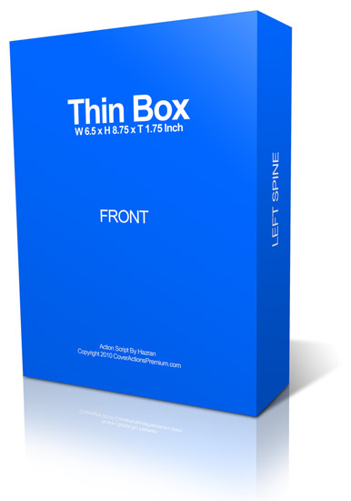 Thin software box ecover actions