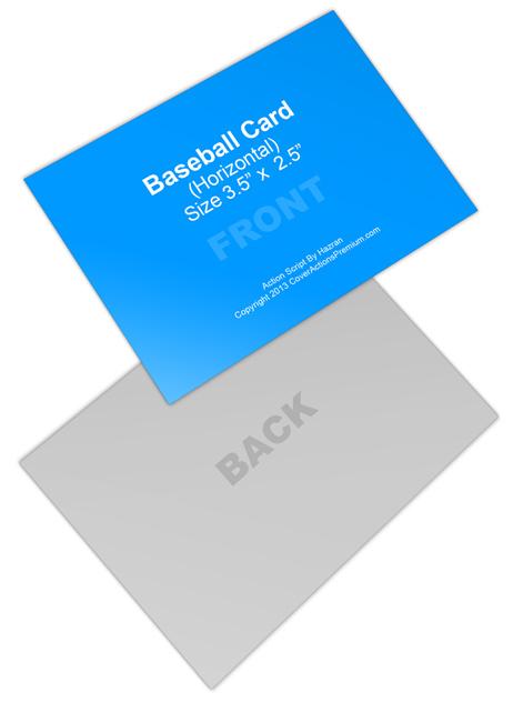 Horizontal Trading Card Mock Up