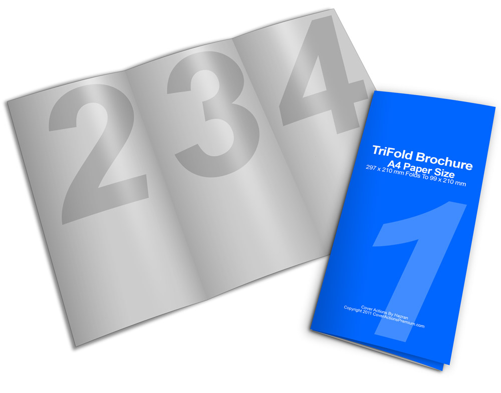 blank template of trifold brochure a4 size stock illustration