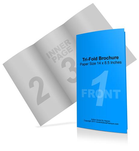 8 5 x 14 tri fold brochure mockup cover actions premium mockup