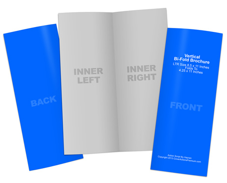 Vertical Bi-Fold Brochure Cover Actions