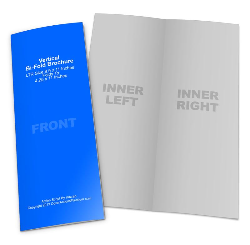 vertical bi fold brochure mockup