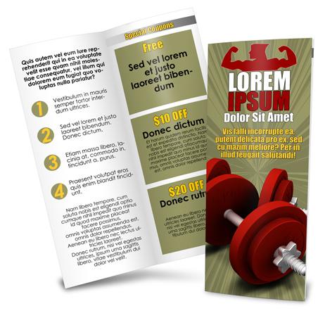 Vertical Bi-Fold Brochure Action Script
