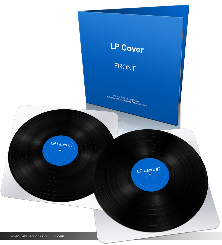 Vinyl LP Record Gatefold Mockup | Cover Actions Premium ...