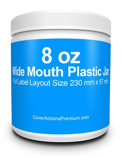 8 oz Wide Mouth Jar mockup