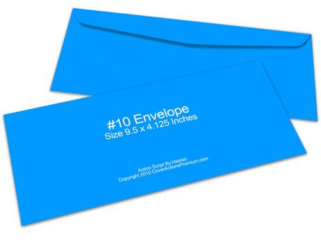 No. 10 Envelope Mockup | Cover Actions Premium