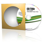CD with Paper Sleeve Cover Actions