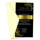10.5 x 20.5 cm Invitation Card Action Script Set