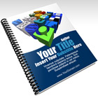 Laying Letter Size Spiral Bound Magazine Mockup Cover Actions