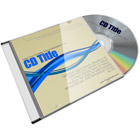 Slim CD Jewel Case with Blank CD Mock Up