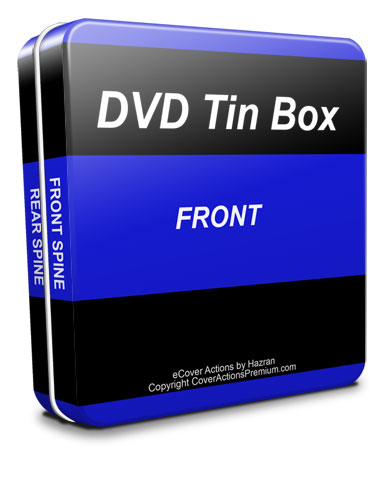 rectangle CD / DVD tin box ecover action script