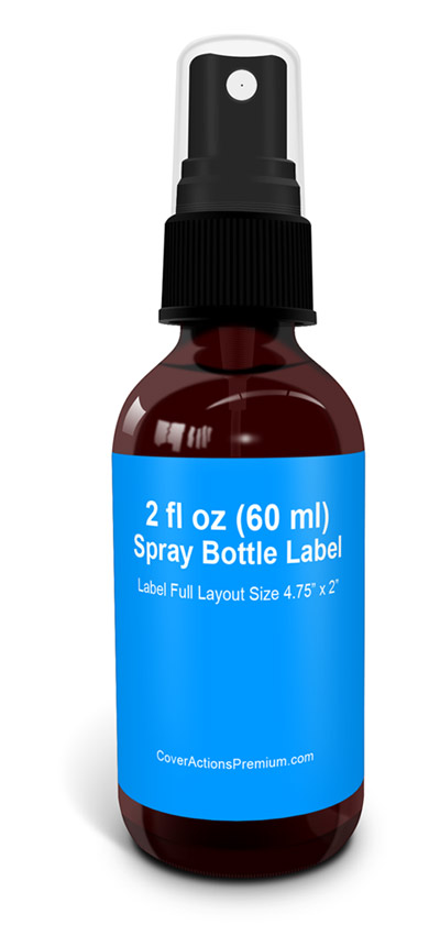 2 Oz Round Glass Bottle With Spray Mock Up Cover Actions